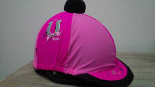Carrots Lucky Rider riding hat cover one size pink black pom pom