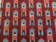 Nutex - Britannia - Changing of the Guard - Burgundy - 100% Cotton Fabric
