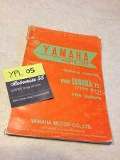 Yamaha parts list Chappy 80 1975 type 592 LB80IIA LB80 2A LB 80 catalogue piece