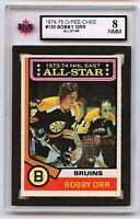 1974-75 OPC Hockey #130 Bobby Orr AS Graded 8.0 NMM (*G2020-039)