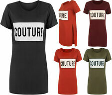 Polyester Slogan Regular Size T-Shirts for Women