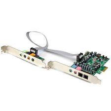 Startech.com 7.1 Channel Sound Card - Pci Express - 24-bit - 192khz - 7.1 Sound
