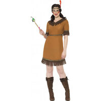 Womens Sexy Native American Indian Costume Fancy Dress Princess Gown Adult S M L