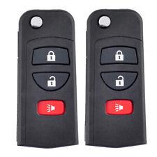 2 PCS Flip Remote Key Shell Replace for Nissan Titan Fold Case 02-2016 KBRASTU15