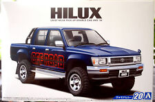 1994 Toyota Hilux Double Cab Off Road Pickup 1:24 Aoshima 52280 neu 2017