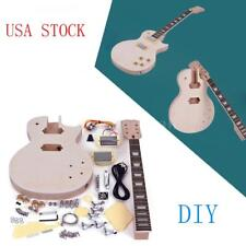 Complete Unfinished DIY Kit Electric Guitar Body + Fingerboard +Accessories Gift