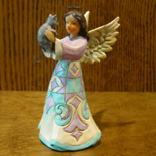 Jim Shore Heartwood Creek Pint Size #4052057 FAITHFUL FRIEND ANGEL w/ CAT, ,5""