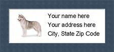 "Siberian Husky Return Address Labels  - Personalized ""BUY 3 GET ONE FREE"""