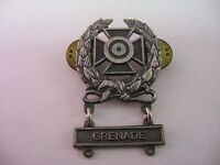 Very Nice Military Marksman Iron Cross Badge Pin GRENADE (LIGI FRW-GI)