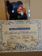 TY Beanie Babies Rare  Princess PE, Authenticity 1st Charity Beanie