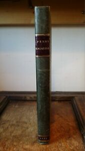 1832 THE PENNY MAGAZINE - FIRST BOUND VOLUME NO 1 - MARCH TO DECEMBER - ILLUST.