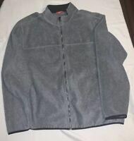 Izod Fleece Mens XXL Gray Zip Up Jacket Sweater 2XL
