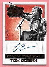 2015 Panini Country Music #TGO Tom Gossin Autograph #185/394