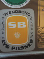 SVENDBORG BREWERY LVS PILSNER  DANISH BEER LABEL