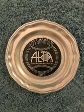 "ALTA City Championship 2010 Pewter 10"" Plate Atlanta Lawn Tennis Assoc."