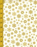 Windham Prints Sparkle Whistler Studios Gold Metallic 100%Cotton Quilting Fabric