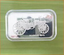 "RARE ! 1 oz .999 Switzerland Silver Bar""MARKUS 1875 ANTIQUE CAR COLLECTION"" C74"