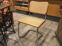 Freischwinger Bauhaus Klassiker Design Stuhl Korbflecht Chairs Kein Thonet 1/4