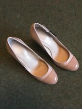 Autograph Ladies Heeled Shoe In Caramel Mix Size 5.5 Patent Finish