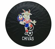"""15"""" SPARE TIRE COVER CHIVAS BLACK HEAVY DUTY VINYL TIRE COVER"""