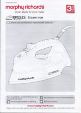 Instruction manual for Morphy Richards 'Breeze' steam iron (RN300250MUK Rev2)