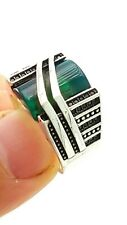 Handmade Jewelry Rings Green Quartz D1390 New Real Silver Rings For Men Turkish