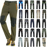 Men Quick Dry Hiking Pants Tactical Outdoor Waterproof Climbing Cargo Trousers L