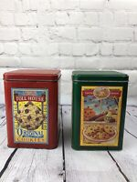 Vintage Nestle Toll House Tin Containers Lot of 2 Limited Edition Cookies