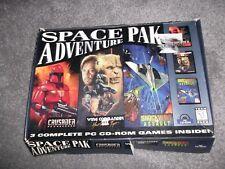 Vintage PC CD-ROM Space Pak Adventure Crusader Wing Commander 3 Shockwave