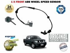FOR NISSAN NAVARA D40 2.5 DT DCi PICKUP 2005--> NEW 1X FRONT ABS SPEED SENSOR
