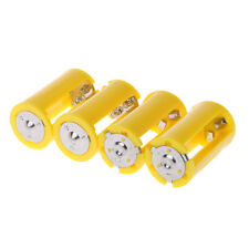 3 AA To D Size Battery Holder Converter Adapter Switcher Plastic Case Box 4PCS
