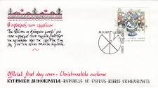 (14116) Cyprus FDC Christmas 30 November 1987