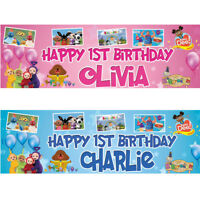 2 Personalised Birthday Banner teletubbies bing children kids party poster deco