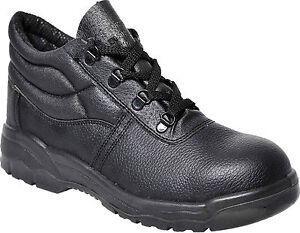 Portwest Steelite FW10 steel toecap chukka Safety BUILDER WORKER BOOTS shoes S1P