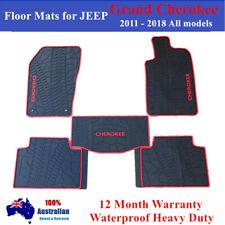 Heavy Duty Rubber Floor Mats For Jeep Grand Cherokee 2012 - 2018 SRT Red Trim