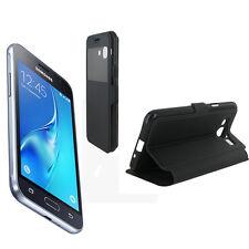 Etui Rabattable Noir Avec Ouverture Ecran pour Samsung Galaxy J3 2016