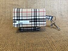Dog Accessories, Tartan, Beige, Pouch - Dog Treat Bag / Dog Poo Bag Carrier