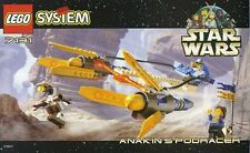 LEGO STAR WARS ANAKIN'S PODRACER 7131 ALL 3 FIGURES RARE 100% COMPLETE GUARANTEE