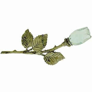 Rose on a Stem Crystal Collectable Miniature Ornament in Gift Box Westminster