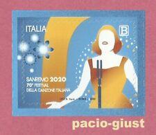 Italia 2020  SANREMO 70° FESTIVAL DELLA CANZONE ITALIANA  Francobollo singolo