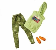 NEW 2020 KEN DOLL CLOTHES,FASHION PACK  GREEN CAMOUFLAGE