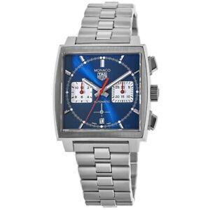 New Tag Heuer Monaco Automatic Blue Chronograph Men's Watch CBL2111.BA0644