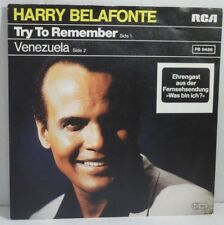 "HARRY BELAFONTE - Try To Remember > 7"" Vinyl Single"