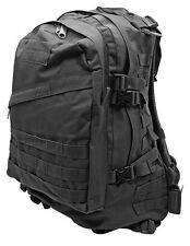 3D Assault Tactical Molle Backpack Camping Hiking Hunting Military Bag Black