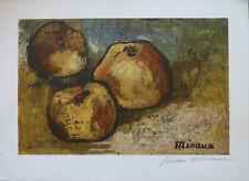 André MINAUX (1923-1986) Lithographie Jeune peinture Nle Ecole de Paris
