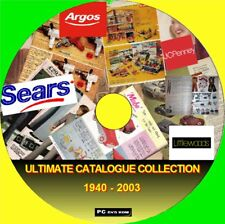 BIG COLLECTION VINTAGE RETAIL CATALOGUES ARGOS LITTLEWOODS + 1940-03 PC DVD NEW