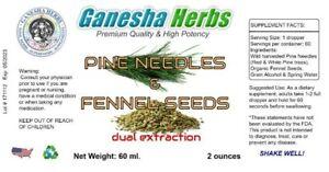 PINE NEEDLE + FENNEL SEEDS  LIQUID TINCTURE  Suramin Shikimic Acid Dual Extract