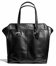 Coach TAYLOR North/South Leather Tote Shopper Handbag Bag Tote F25941 Black New