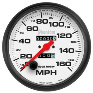 "Auto Meter 5895 5"" Phantom Mechanical Speedometer 0-160 MPH NEW"