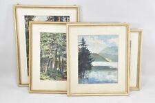 a57p10- 4x Gemälde Aquarell, Landschaften, ua sign. M. Knapp